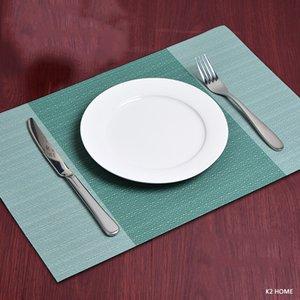 Confezione di lusso di 4 pezzi tovagliette Cucina Dinning Table Luogo tappetini antiscivolo Dish Bowl Posizionamento calore Macchia resistente Table Mats decorativo