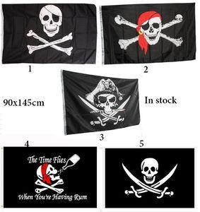 90x150cm Halloween Bar décoration de la maison pirate drapeau festival pirates prop crâne de terreur bannière décor Jolly Roger bal costumé Accessary