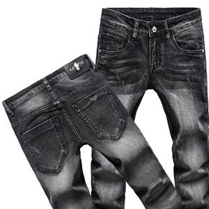 Afligido de homens Ripped Skinny Jeans Fashion Designer Jeans Mens Magro motocicleta Moto motociclista Causal Mens Denim Pants Hip Hop Jeans 2020