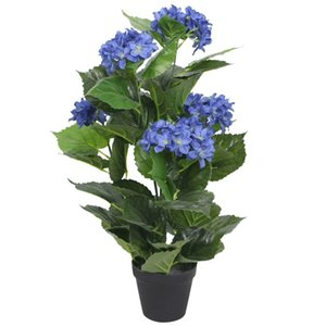 Artificial Hydrangea Plant with Pot 60 cm Blue Other Garden Supplies