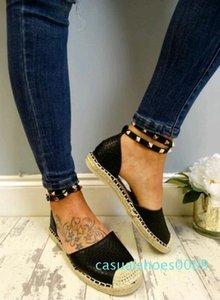 YENİ Kadınlar Sandalet Yaz Rahat Sahte Süet Düz ComfortableSize 35-43 Casual Ayakkabı Zapatos Mujer Boyut 35-43 YP-87 C09 Ayakkabı