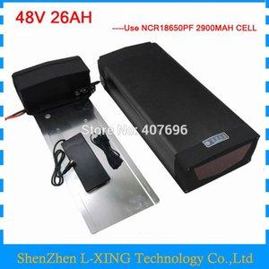 48V 26AH Lithium-Ionen-Batteriepacks 48V 26AH Gepäckträgerakku mit Rücklicht und USB-Anschluss verwenden Panasonic 2900mah-Zelle 30A BMS