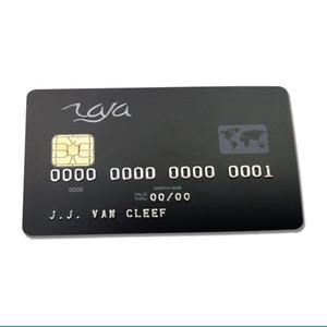 Tarjeta de contacto de PVC 7816 de plástico modificado para requisitos particulares SLE5528 Chip Smart IC Card