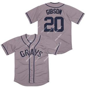20 Josh GIBSON Jersey Homestead Grays Grey pullover di baseball 85268542