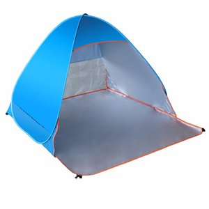 Wholesale- LumiParty Folding Beach Tent Automatic Up Tents Outdoor Camping Anti-UV Sun Shade Shelter