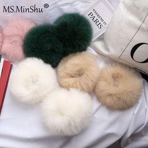 Г-жа Миншу Лиса волосы шлепок на манжетах подлинные лисы мех запястья пышные и шелковистые лисы волосы манжеты на свитер куртка меховые манжеты падение доставка
