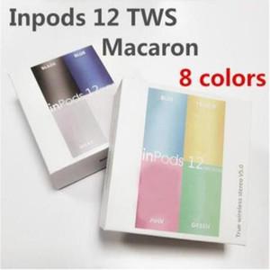 perakende paketi ile kablosuz Bluetooth Kulaklıklar i12 TWS inpods 12 Macaron V5.0 Stereo Cep telefonu Kulaklık Kulaklık Dokunmatik Kulaklık