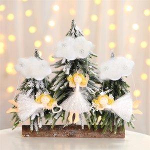 Weihnachten Crafts hängende Dekoration Engels-Wolke Anhänger Weihnachtsbaum Ornamente Kinderzimmer Dekoration Holiday Party JK1910 Supplies
