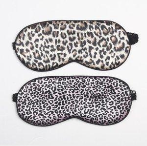 Seda Máscara de ojo del sueño Estampado de leopardo Herramienta para el cuidado de los ojos Viaje Cubierta para dormir Sombra Con los ojos vendados Máscaras para dormir Ojos