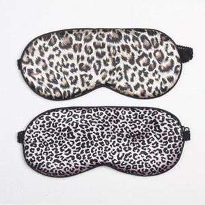Silk Sleep Maschera per gli occhi Leopard Print Eye Care Tool Viaggi Sleeping Cover Ombra Occhi benda Occhi Maschere all'ingrosso