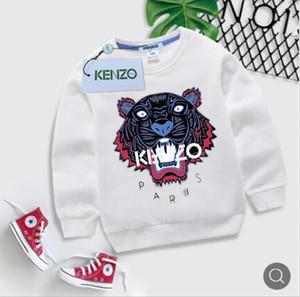 Nuova stampa Tiger Head Ragazzi Maglione in cotone Camicia a maniche lunghe in cotone Maglione moda Camicia per bambini casual