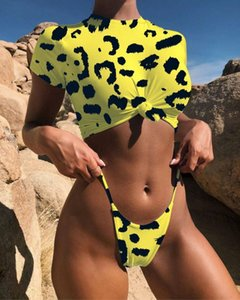 mujer establece conjuntos de dos piezas cortas leapard verano para las mujeres conjuntos de dos piezas pista twotwinstyle desgaste vacaciones Moda