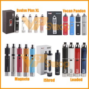 100% Original Yocan geladen Evolve Plus XL iShred Magneto Pandon Fackel Trockene Kräuterwachs Verdampfer Kits 1100/1300 / 2600mAh Batterie Vape Pen