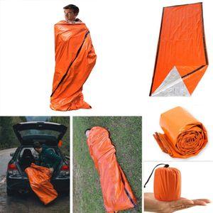 Notdecken Schlafsack Thermal wasserdicht für im Freienüberlebens-kampierende Wandern Camp Schlaf Gears Schlafsack Kälte lebensrettende