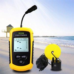 Açık Balıkçılık Renkli Ekran için Bulucu Fishfinder Fishing Kablolu Balık Bulucu 100M Taşınabilir Sonar Sensör LCD Balık Bulucu İskandili