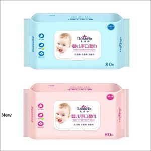 80pcs salviette per neonati Neonato Salviettine libera balneazione strofinate speciale per bocca Culo mano senza alcool Tovaglioli IIA143