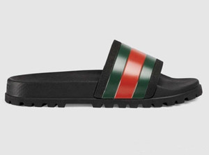 2020 Com Box! Homens Mulher de Alta Qualidade Chinelos sandálias planas de sapato Shoes Deslize tênis de basquete sapatos casuais Falhanços de aleta por shoe10