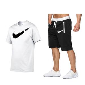 Men Sets Summer men s Designer Tracksuit Clothing swimwear men t shirts+ Short pants 2 Pieces swimsuit Set outdoor jogging sports suits