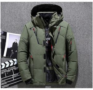 Дизайнерские мужские зимние пуховики мужские сплошной цвет с длинным рукавом уличное пальто роскошная мужская верхняя одежда с карманами на молнии