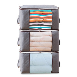 Set Nonwoven Blankets Storage Bag Bedding Accessories Multifunctional Clothes Dustproof Cover Quilt Organizer Eco-friendly 3 Sets Lot