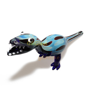 """9"""" New Dinosaur Oil Burner Glass Pipe Smoking bongs Tobacco Animal Hand Pipes for Portable Cool bong Spoon Wholesale Drop shipping"""