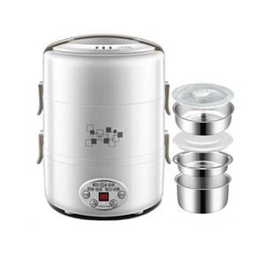 2L Intelligente Elektro-Lunch Box Portable Reiskocher Edelstahl Liner Steckbare Heizung Isolierung Kochen