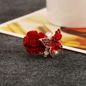 Moda Rose-Ring, Vento étnico, borboleta Ring, Retro-Bohemian liga, europeu e handwear Explosivo americano