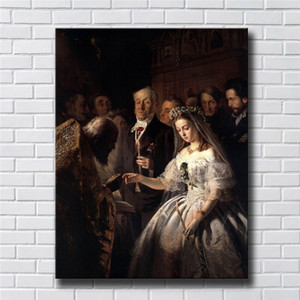 The Arranged Marriage By Vasili Pukirev,Home Decor HD Print Modern Art Canvas (Unframed   Framed) 24x32&quot
