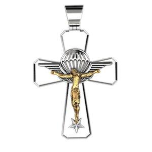 10pcs Europa e América Christian Moda nova Jesus cruz pingente de duas cores estilo retro pingente de colar de homens