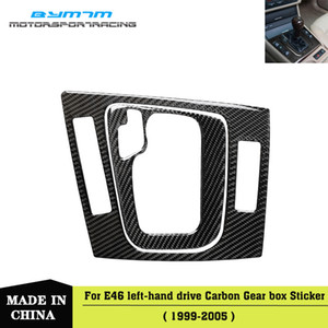 왼손 드라이브 자동차 내부의 실제 탄소 섬유 기어 박스 스티커를 들어 BMW 3 시리즈 E46