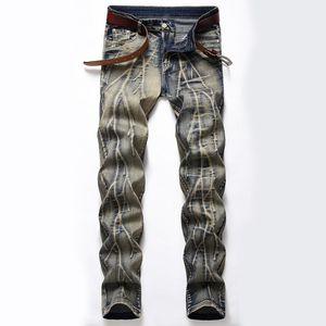 Denim diseñador para los hombres de la bici de Moto vaqueros tramo recto sobredimensionar 28-38 40 42 2020 Primavera sutumn invierno HIP HOP punky Streetwear