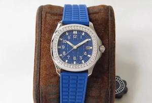 35,6 mm quadrante blu cassa rotonda anelli ottagonali femminili tabie821219 giadeite intarsi di 46 top cristalli Swarovski