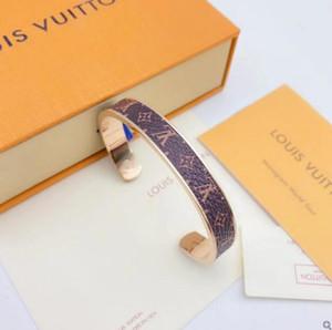 Luxo designers de jóias Mulheres Pulseiras Moda de Nova pulseira de couro dos homens de alta qualidade de aço inoxidável Bangle Pulseiras Jóias