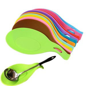 Cucina silicone Cucchiaio Resti resistente al calore antiaderente Mat silicone Cooking Tools Clips Pot