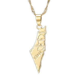 New Fashion High Quality Palestine Map Necklace Long Chain Map Pendants Necklaces For Women Girls Birthday And Party Jewelry Gifts