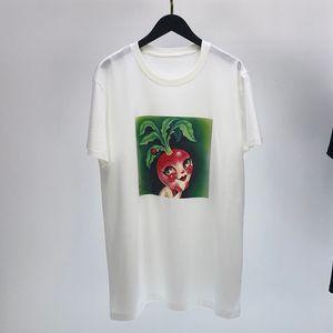 Frühling, Sommer, Europa Italien Mode Möhre Insekt Karikaturdruck Malerei T-Shirt T Männer Frauen einzigartige Kurzarm Baumwolle T-Shirt