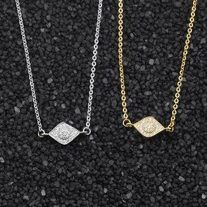Sıcak Satış Altın Zincir Mini Kristal Oval Gerdanlık Kolye Kolye Kadınlar için Moda Bildirimi Kolyeler Takı Toptan