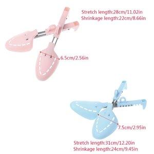 EYKOSI ajustável da sapata Árvores Domestic Suporte Maca Shoes titular com plástico Para Uso Geral Azul Rosa S / L