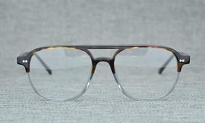 NEUESTE Designer Johnny Depp Pilot Acetat Brillengestell 53-17-145 NYC1915 für Brillen Sonnenbrillen Komplettetui
