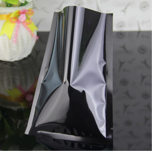 Renkli Alüminyum Kaplama Plastik Düz Çanta, 8x12 cm 200 adet / paket Renkli Alüminize Mylar Yüz Maskesi Ambalaj Çuval Plastik Torbalar Isı Sızdırmaz