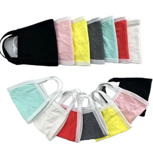 Colored Cotton Mouth Face Mask Black White Unisex Anti Dust Mask Double Layer Windproof Earloop Masks PM2.5 Mouth Muffle Cover FY9045