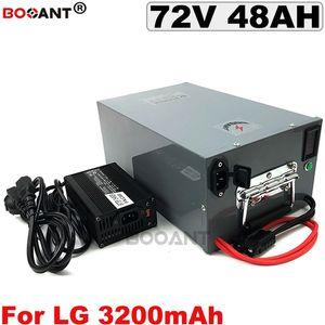 Para LG 18650 células Bateria bicicleta Elétrica Recarregável 72 v 3000 x E Moto-Bateria de Lítio 72 v 48AH 관련 제품 금속 +