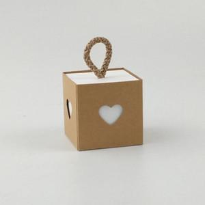 Presentes favor do casamento caixas de doces festa de casamento amor do coração Craft caixas de papel de embalagem Box Baby Shower Party Favor Suprimentos 50pcs
