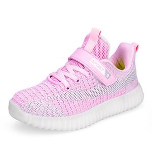 أطفال أحذية الأطفال الرضع أحذية مسطحة تمتد شبكة العليا الرياضة تشغيل أحذية رياضية للبنات بنين عاكس الإسفار وحيد الأحذية
