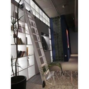 Doğal Knotty Pine Ahşap Boyama için, Adım Merdiven Rolling Ladder Sürme Hazır Kütüphane Ladder Sürme, 9 Adımlar (Bitmemiş)