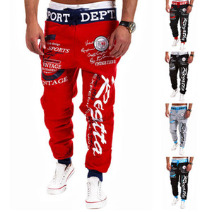 Mode Männer Hip Hop Kreuz-Pants Frühling Scrawl Drucken Kreuz Hosen Lange Hosen Herren-Fit Loose Dance Workout Joggers Gym Jogginghose