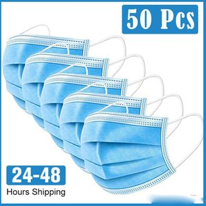 face 24-48 hours Ship! DHL Disposable free shipping masks 3-Layer Anti Dust Breathable Face Mask men and women mask