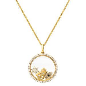 Стерлингового серебра 925 плавающей медальон ожерелье подходит pandora европейский счастливый символ открытые серебряные ожерелья