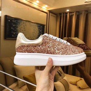 2019 Moda Lüks Klasik Günlük Ayakkabılar Platformu Deri Eğitmen Womens Donanma Yılan Cilt 3M Sneakers Kadife Chaussures Glitter c22