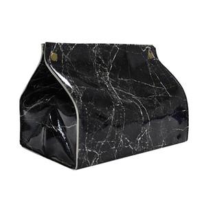 Tissue Автомобильный чехол Box Контейнер для салфеток Papers Мраморность держатель Организатор Marbled кожаная сумка ткань белый черный @ 30